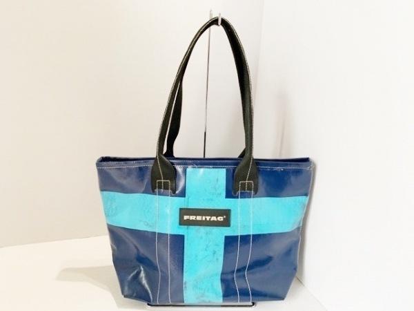 FREITAG(フライターグ) ショルダーバッグ ブルー×ライトブルー PVC(塩化ビニール)