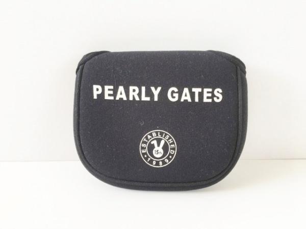 PEARLY GATES(パーリーゲイツ) ウエストポーチ 黒×白 ポリウレタン
