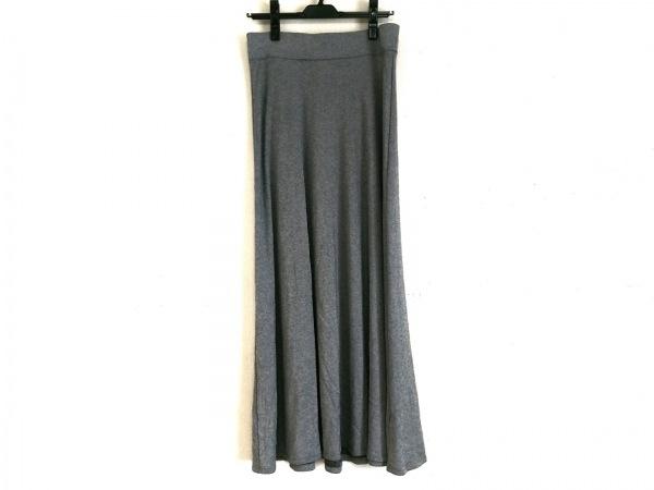 three dots(スリードッツ) ロングスカート サイズS レディース グレー