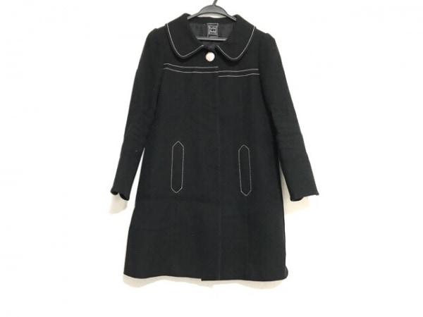 CYNTHIA ROWLEY(シンシアローリー) コート サイズ2 S レディース 黒×白×マルチ 冬物