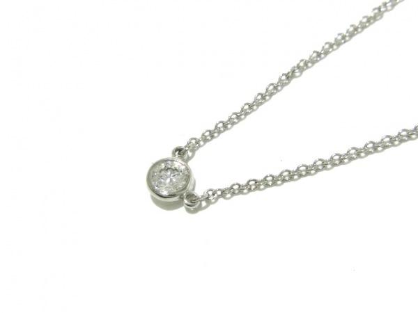 TIFFANY&Co.(ティファニー) ネックレス美品  バイザヤード Pt950×ダイヤモンド