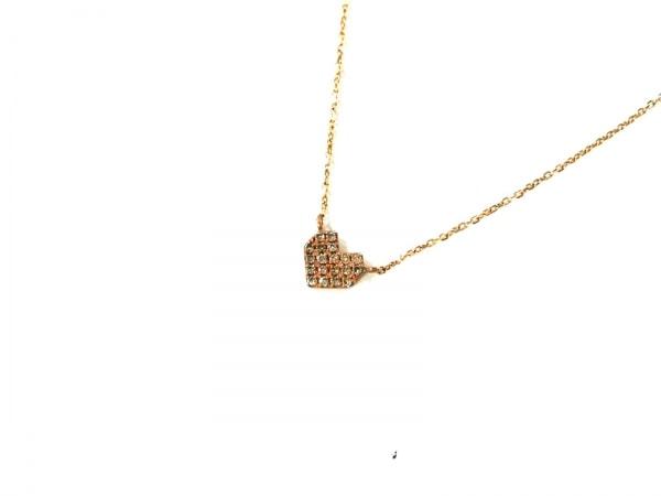 cocoshnik(ココシュニック) ネックレス K10YG×ダイヤモンド ハート