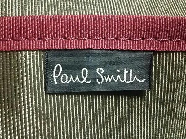 PaulSmith(ポールスミス) ビジネスバッグ 黒 ストライプ ナイロン×レザー