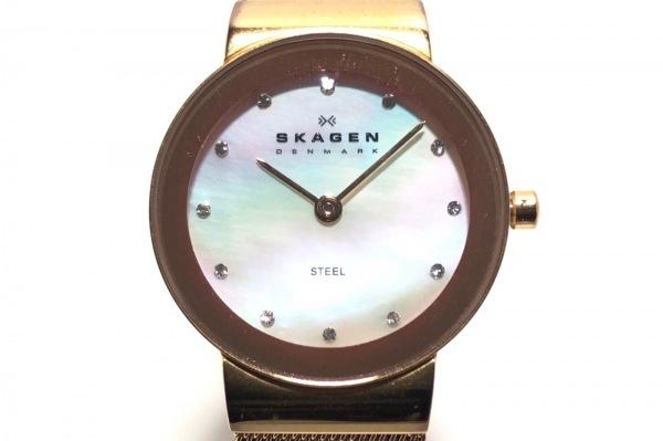 SKAGEN(スカーゲン) 腕時計 358SRRD レディース シェル文字盤 アイボリー