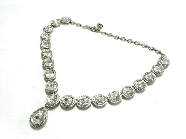 COTOO(コトゥー) ネックレス美品  金属素材×ラインストーン シルバー×クリア