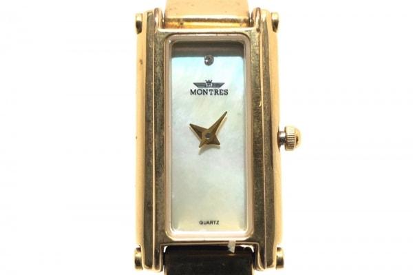 モントレスコレクション 腕時計 MS-029L レディース シェル文字盤 アイボリー