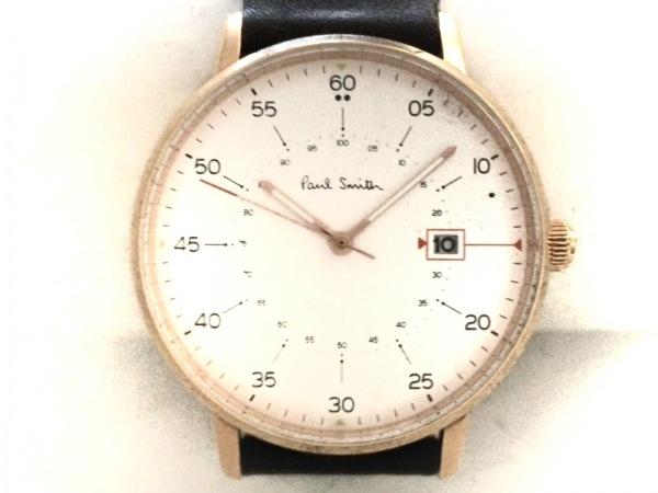 PaulSmith(ポールスミス) 腕時計 1007 メンズ 革ベルト 白