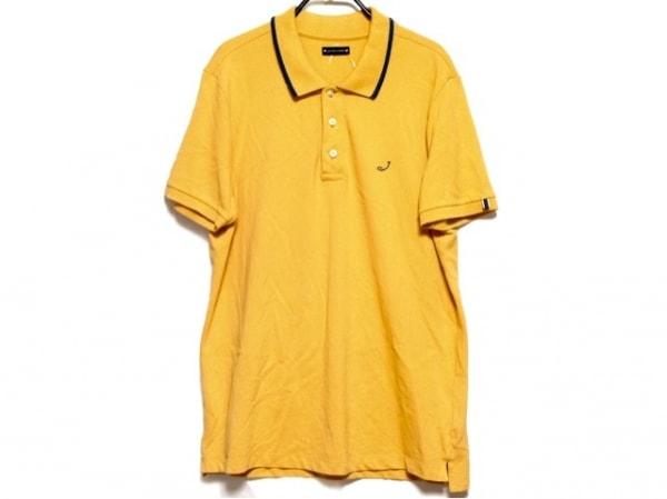 ヤコブコーエン 半袖ポロシャツ サイズL メンズ オレンジ×ネイビー×グリーン