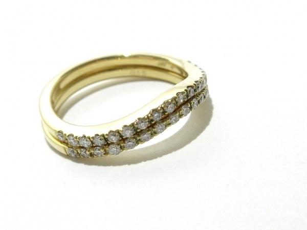 PonteVecchio(ポンテヴェキオ) 3連リング新品同様  K18YG×ダイヤモンド 0.45カラット
