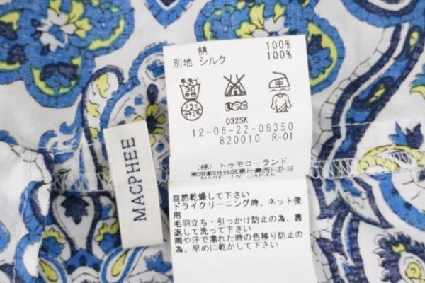 MACPHEE(マカフィ) ワンピース サイズ38 M レディース アイボリー×ブルー