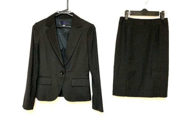 ミッシェルクラン スカートスーツ サイズ34 S レディース美品  黒×グレー