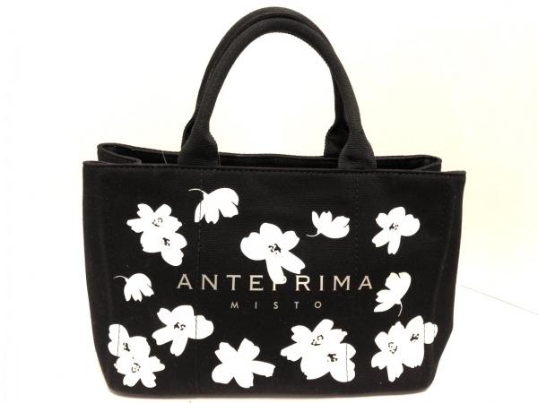 ANTEPRIMA MISTO(アンテプリマミスト) トートバッグ 黒×白 花柄 キャンバス