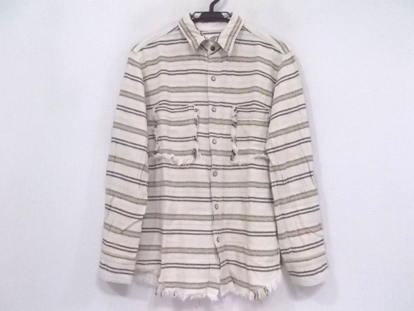 G.O.A/goa(ゴア) 長袖シャツ サイズF メンズ美品  ベージュ×マルチ