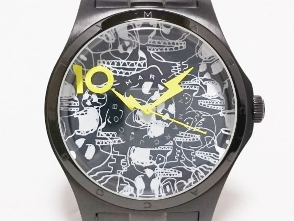 MARC BY MARC JACOBS(マークジェイコブス) 腕時計美品  MBM9027 メンズ 黒×白