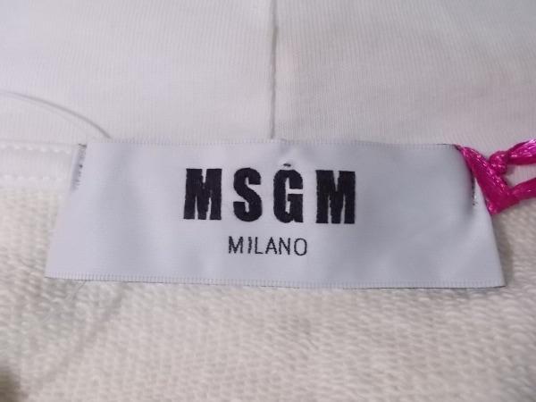 MSGM(エムエスジィエム) トレーナー サイズS レディース新品同様  アイボリー×レッド