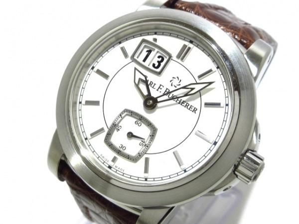 カール F・ブヘラ 腕時計美品  パトラビ 00.10630.08.23.01 メンズ 白×アイボリー