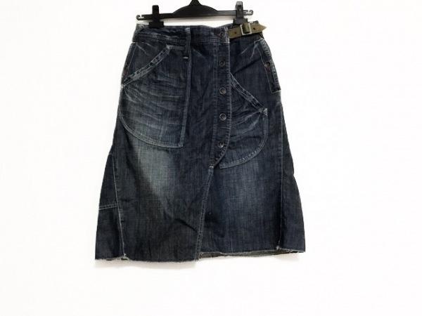 antgauge(アントゲージ) 巻きスカート サイズL レディース美品  ネイビー デニム