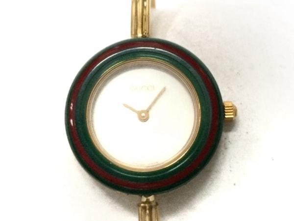 GUCCI(グッチ) 腕時計美品  ベゼルウォッチ 11/12.2 レディース 白