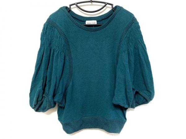 ツモリチサト 七分袖セーター サイズ2 M レディース ターコイズブルー