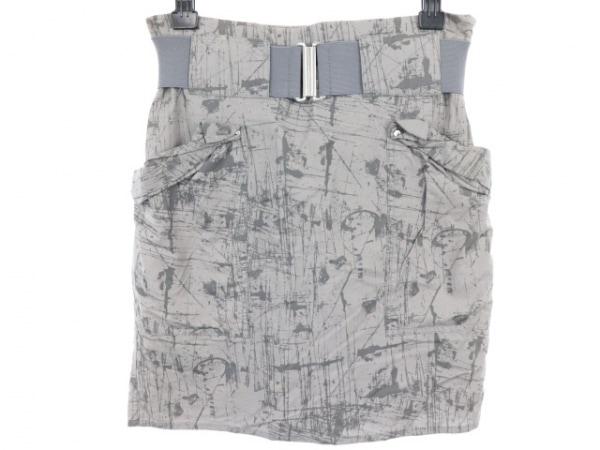 AcneJeans(アクネジーンズ) スカート サイズ36 S レディース グレー×ダークグレー