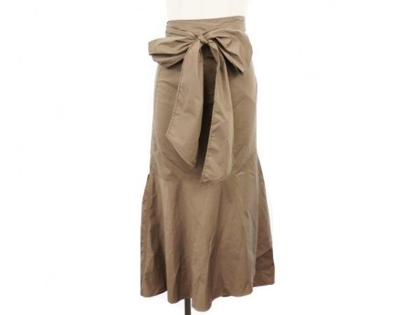 PLAIN PEOPLE(プレインピープル) 巻きスカート サイズ9 M レディース美品  ブラウン