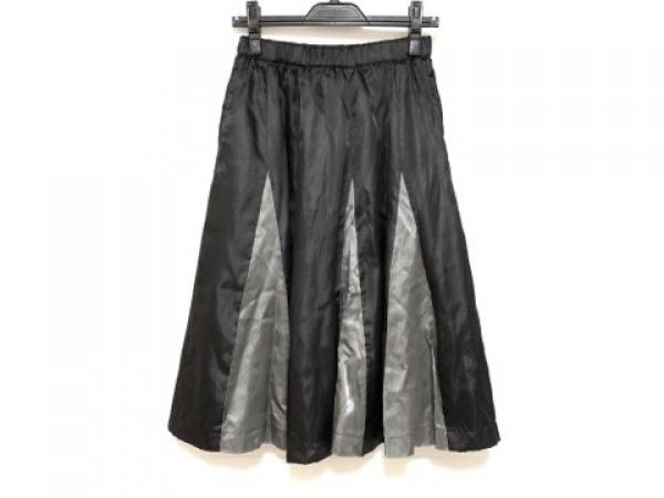 コムデギャルソン コムデギャルソン スカート サイズXS レディース美品  黒×グレー