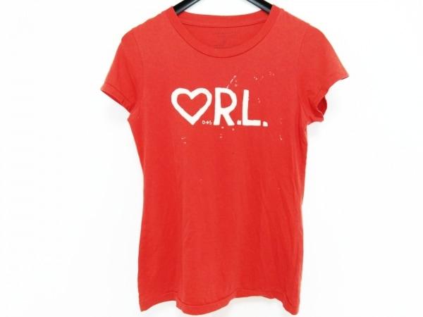 ラルフローレンデニム&サプライ 半袖Tシャツ サイズM レディース レッド×アイボリー