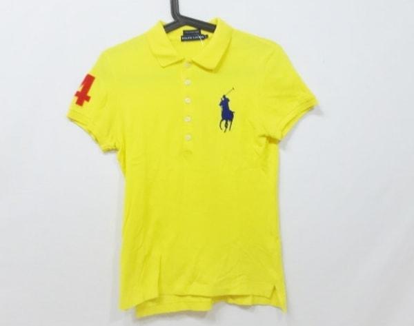 RalphLauren(ラルフローレン) 半袖ポロシャツ サイズl L レディース美品  イエロー