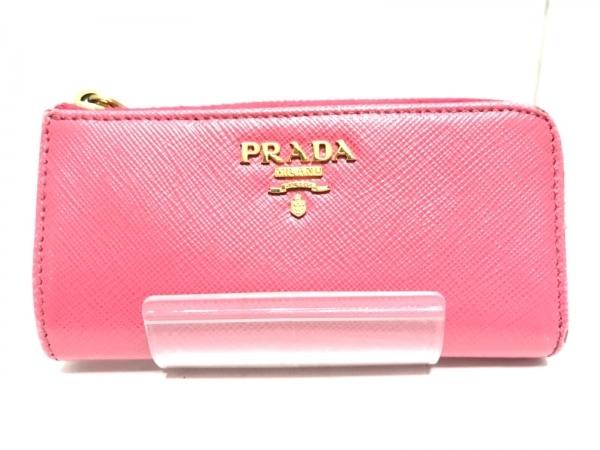 PRADA(プラダ) キーケース - 1PP026 ピンク L字ファスナー レザー