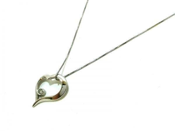 ノーブランド ネックレス美品  K14×ダイヤモンド クリア 総重量:0.9g/A刻印
