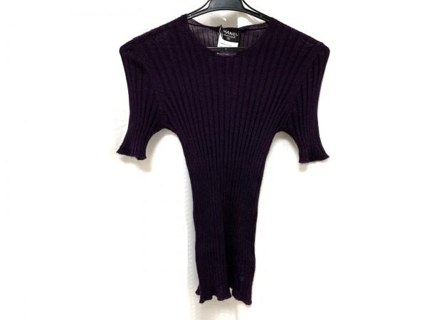 CHANEL(シャネル) 半袖セーター サイズ40 M レディース パープル
