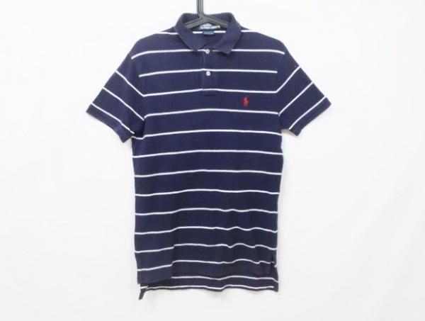ポロラルフローレン 半袖ポロシャツ サイズs S メンズ ダークネイビー×白 ボーダー