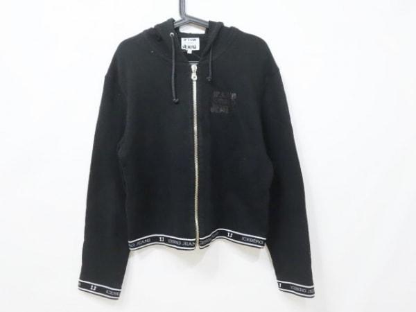 ICEBERG(アイスバーグ) パーカー サイズl L メンズ 黒×白