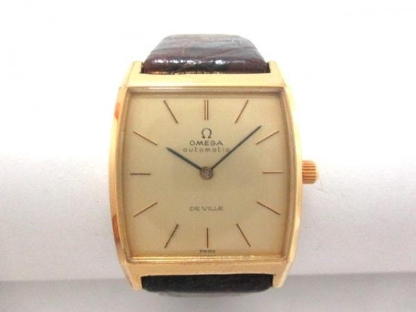 OMEGA(オメガ) 腕時計 デビル - メンズ 革ベルト/社外ベルト ゴールド