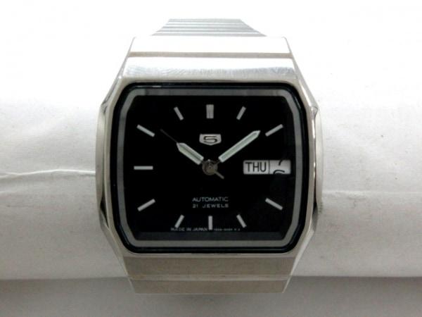 SEIKO(セイコー) 腕時計美品  ファイブ 7S26-00R0 メンズ 裏スケ 黒