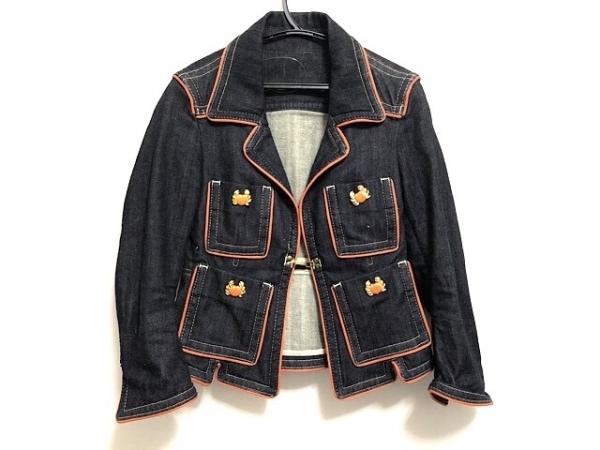 ディースクエアード ジャケット サイズ40 M レディース ネイビー×オレンジ デニム