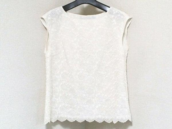 アナトリエ ノースリーブカットソー サイズ38 M レディース美品  白 フラワー