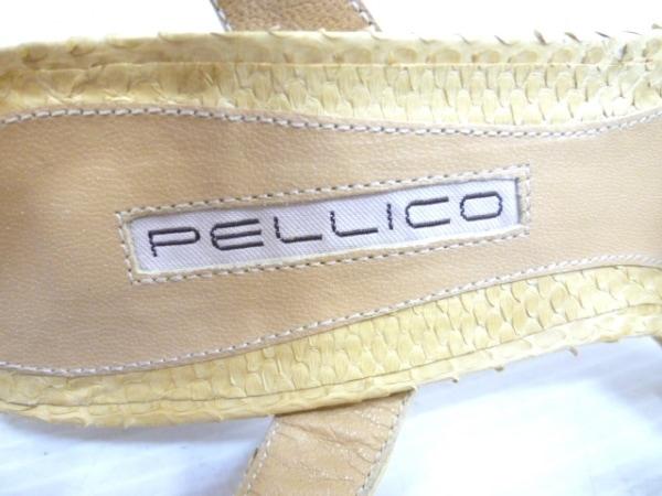 PELLICO(ペリーコ) サンダル 37 レディース ベージュ パイソン 5