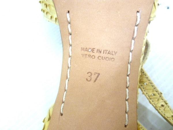 PELLICO(ペリーコ) サンダル 37 レディース ベージュ パイソン 6