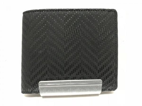 印傳屋(インデンヤ) 2つ折り財布 黒 レザー