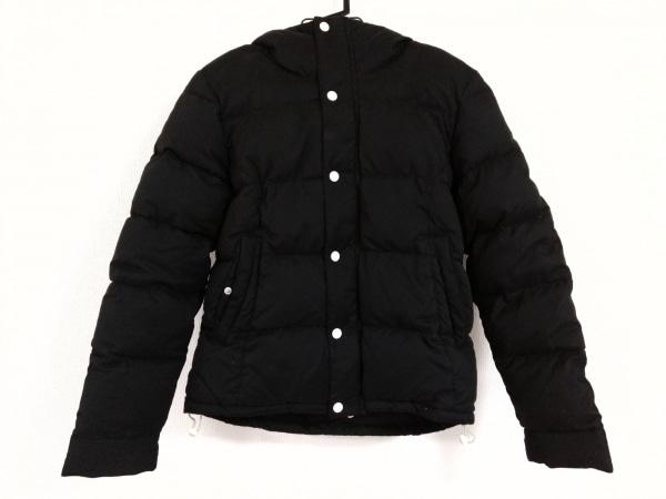 VANQUISH(ヴァンキッシュ) ダウンジャケット サイズ44 L メンズ 黒×白 冬物