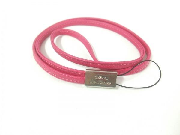 LONGCHAMP(ロンシャン) ストラップ美品  ピンク レザー