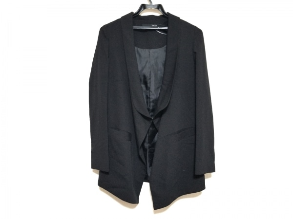 シェルターオリジナル ジャケット サイズ1 S レディース美品  黒 ロング丈