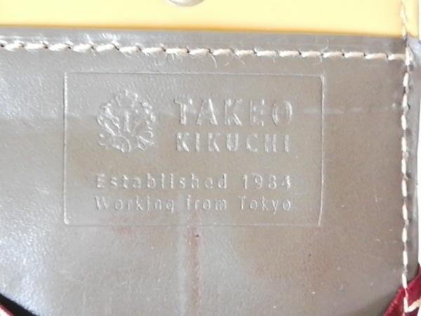 TAKEOKIKUCHI(タケオキクチ) コインケース ダークブラウン×ネイビー レザー