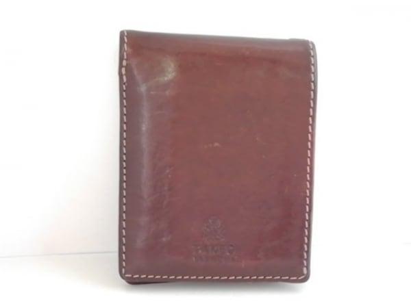 TAKEOKIKUCHI(タケオキクチ) 2つ折り財布 ダークブラウン レザー