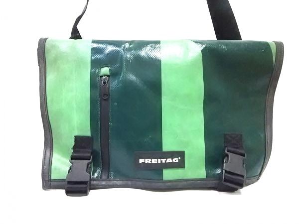 フライターグ ショルダーバッグ グリーン×ライトグリーン×黒 PVC(塩化ビニール)