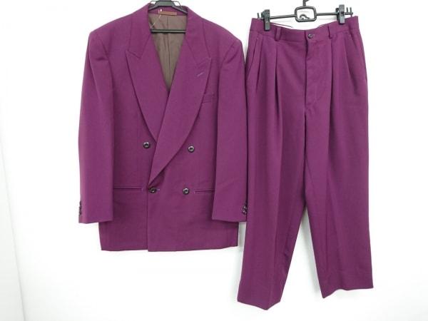 JUN MEN(ジュンメン) ダブルスーツ サイズL1 メンズ美品  パープル ダブル/肩パッド