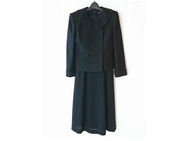 YUKITORII(ユキトリイ) ワンピーススーツ サイズ9 M レディース 黒 肩パッド