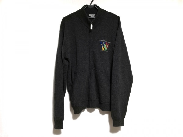 ヴェルサーチスポーツ 長袖セーター サイズ46 XL メンズ美品  ダークグレー×マルチ