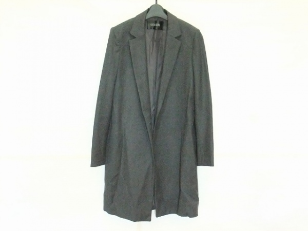 スウィンスウィング コート サイズ42 L レディース美品  ダークグレー 春・秋物